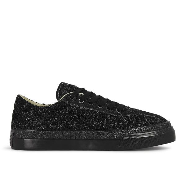 Mens Dellow Hairy Suede Black/Black Side