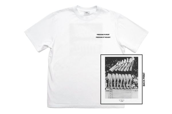 Stepney Workers Club Gym Display T-shit White Front and Back