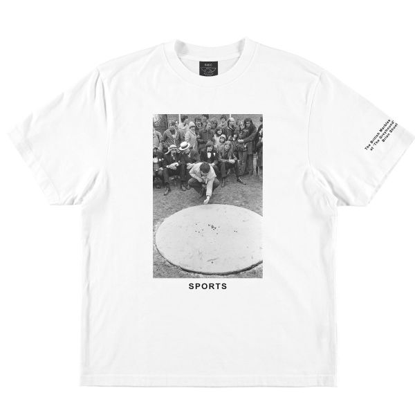 S.W.C & HERESY MARBLES T-SHIRT WHITE Front