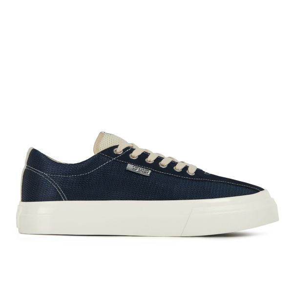 Unisex Stepney Workers Club Dellow Track Mesh Navy Sneaker Side