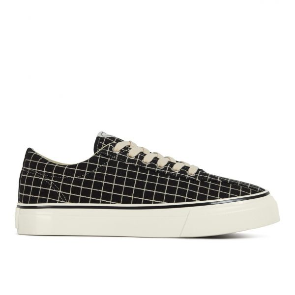 Unisex Stepney Workers Club Dellow Sport Grid Black Sneaker Side