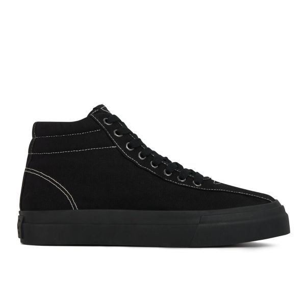 Stepney Workers Club Unisex Hi-Top Varden Canvas Matt Black Sneaker Side