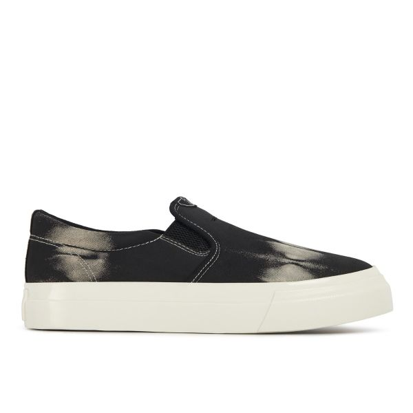 Unisex Stepney Workers Club Lister Trophy Tie-Dye Suede Black Sneaker Side