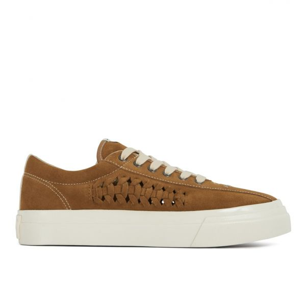 Unisex Stepney Workers Club Dellow Trophy Woven Suede Clay Sneaker Side