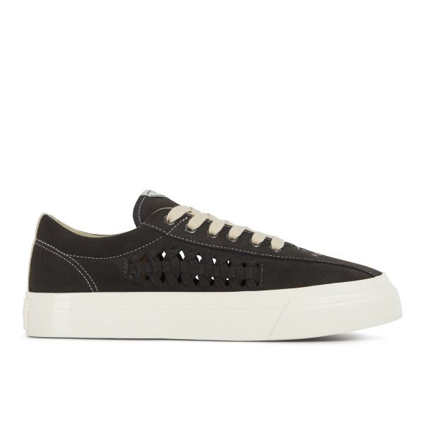 Unisex Stepney Workers Club Dellow Trophy Woven Suede Smoke Sneaker Side