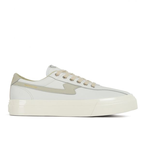 Unisex Stepney Workers Club Dellow S-Strike Leather White Sneaker Side