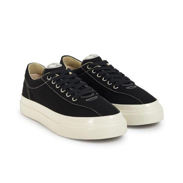 Unisex Stepney Workers Club Dellow Canvas Black Sneaker Three Quarter