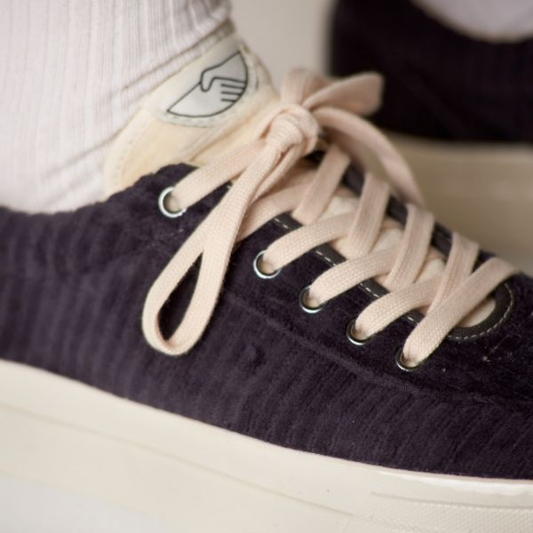 Stepney Workers Club Unisex Trainers Dellow Grand Cord Smoke Close Up