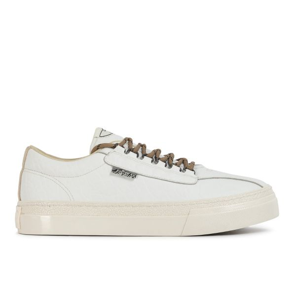 Stepney Workers Club Unisex Trainers Dellow Ramble Tumbled White Side