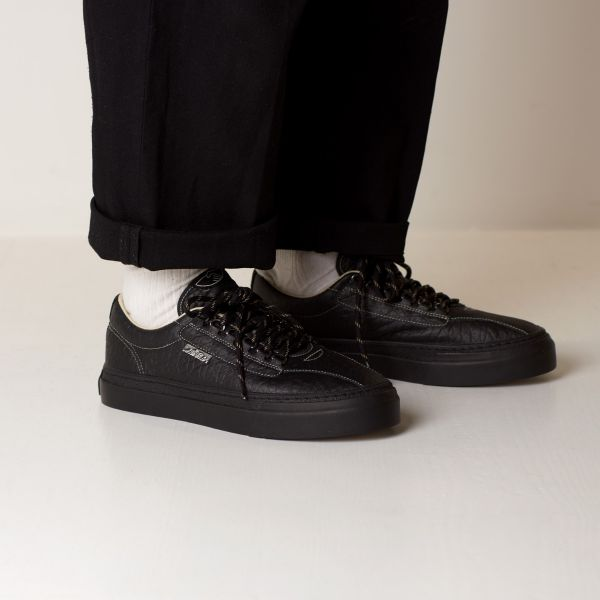 Stepney Workers Club Unisex Trainers Dellow Ramble Tumbled Black Lifestyle