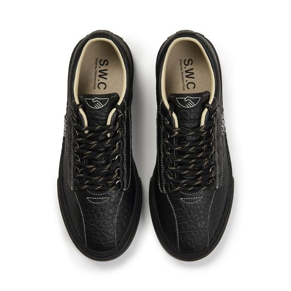 Stepney Workers Club Unisex Trainers Dellow Ramble Tumbled Black Top