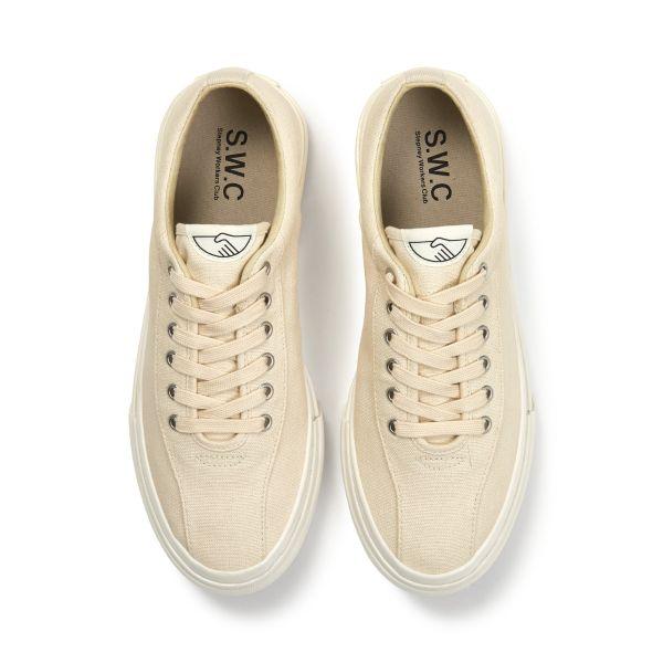 Unisex Stepney Workers Club Dellow Canvas Raw Ecru Sneaker Top