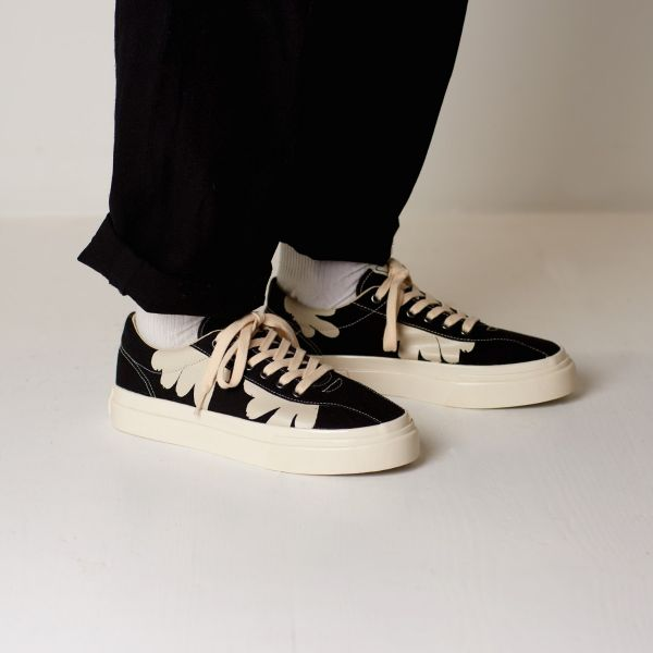 Stepney Workers Club Unisex Trainers Dellow Shroom Hands Black Lifestyle