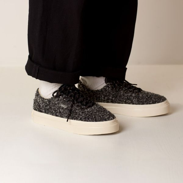 Stepney Workers Club Unisex Trainers Dellow Ramble Boucle Charcoal Lifestyle