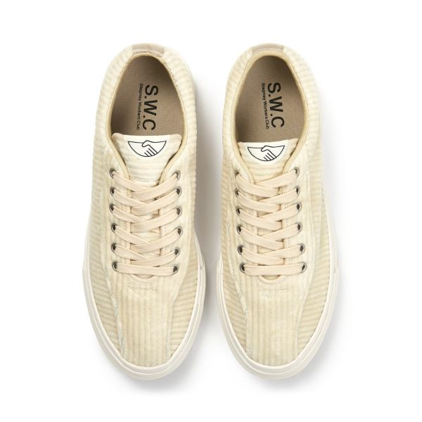 Stepney Workers Club Unisex Trainers Dellow Grand Cord Ecru Top