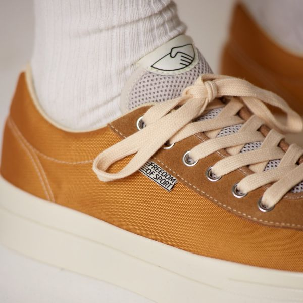 Stepney Workers Club Unisex Trainers Dellow Track Nylon II Gold Close Up