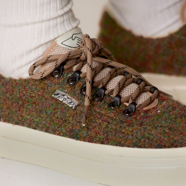 Stepney Workers Club Unisex Trainers Dellow Ramble Boucle Meadow Close Up