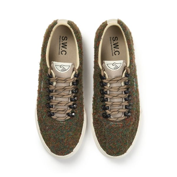 Stepney Workers Club Unisex Trainers Dellow Ramble Boucle Meadow Top