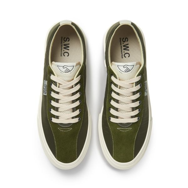 Unisex Stepney Workers Club Dellow Track Nylon Olive Sneaker Top