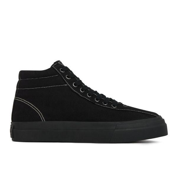 Stepney Workers Club Unisex Hi-Top Varden Canvas Matt Black Sneaker Side