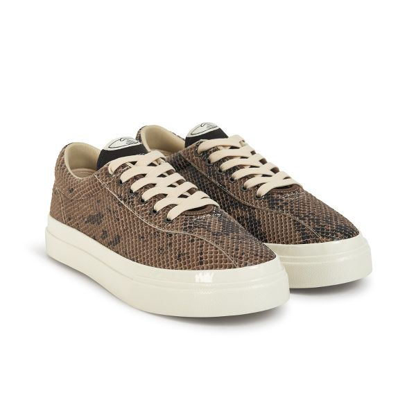 Stepney Workers Club Unisex Trainers Dellow Trophy Fauna Suede Snake Three Quarter