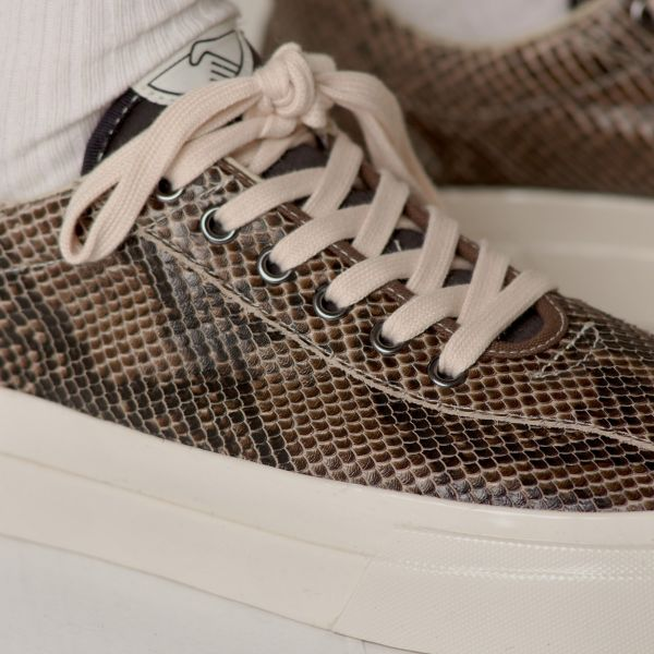 Stepney Workers Club Unisex Trainers Dellow Trophy Fauna Suede Snake Close Up