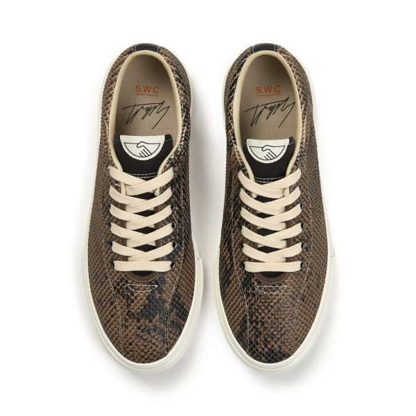 Stepney Workers Club Unisex Trainers Dellow Trophy Fauna Suede Snake Top