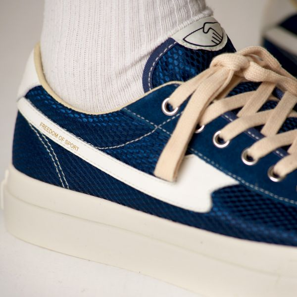 Stepney Workers Club Unisex Trainers Dellow S-Strike Track Mesh Navy Close Up