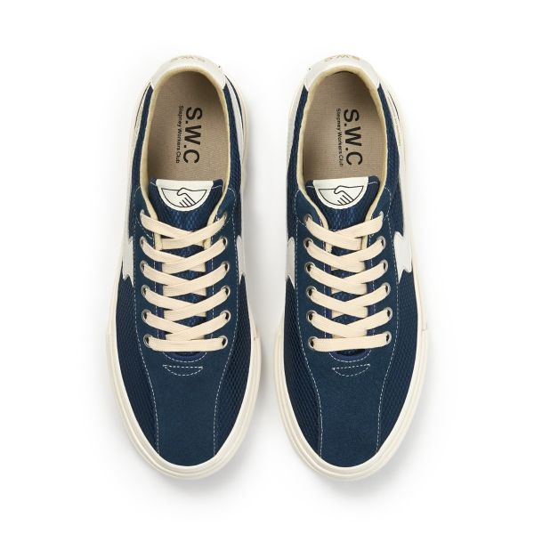 Stepney Workers Club Unisex Trainers Dellow S-Strike Track Mesh Navy Top
