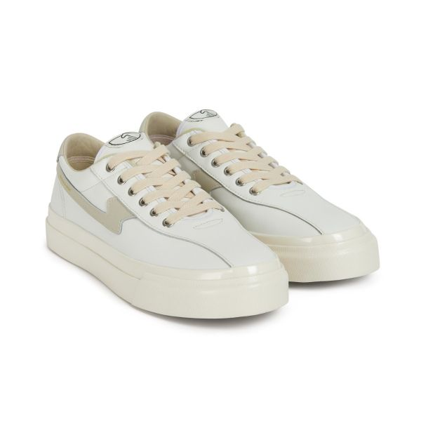 Unisex Stepney Workers Club Dellow S-Strike Leather White Sneaker Three Quarter