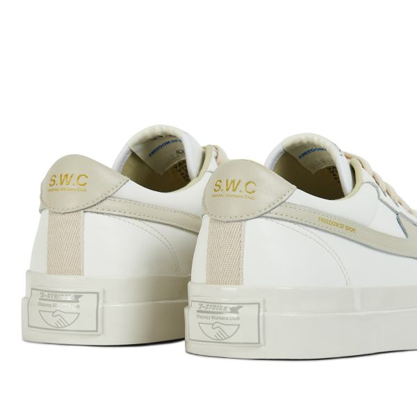 Unisex Stepney Workers Club Dellow S-Strike Leather White Sneaker Detail