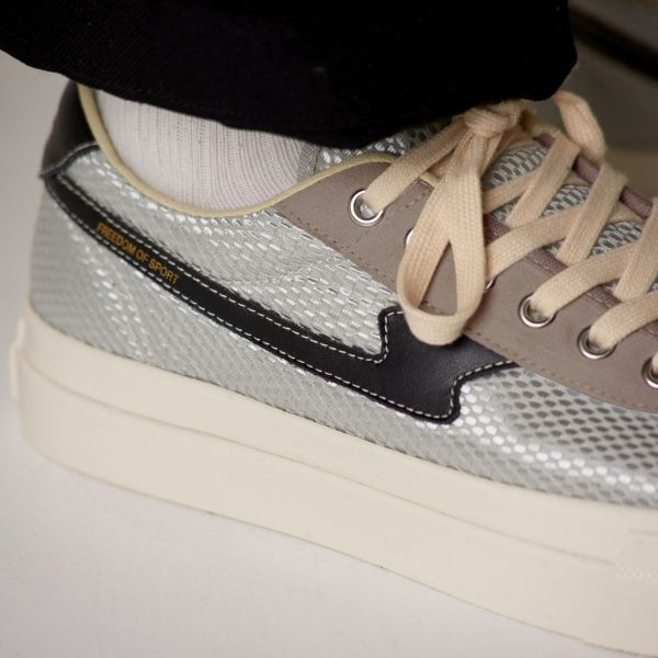 Stepney Workers Club Unisex Trainers Dellow S-Strike Track Mesh Silver Close Up