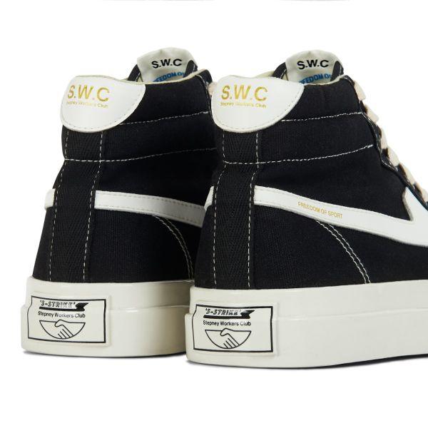Unisex Stepney Workers Club Varden S-Strike Canvas Black Sneaker Detail